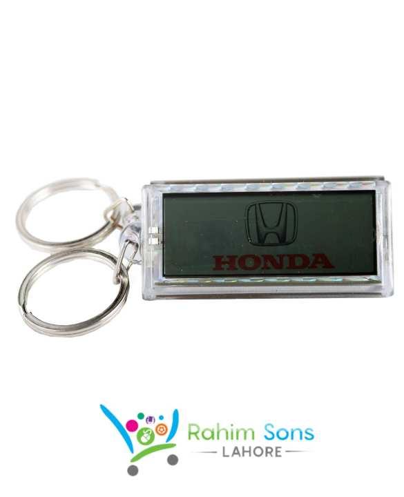 RS High Class Solar Charging Key Chain Honda Logo with Metal Ring