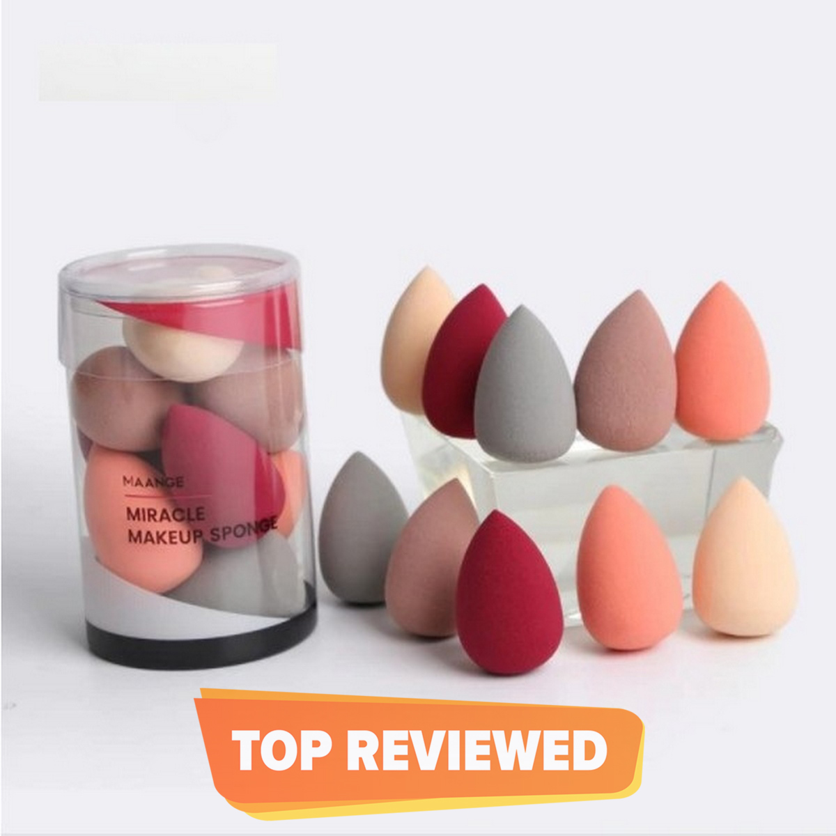 Pack of 5 / Beauty Blender Dropped Puffs Sponge - Beauty Blender Makeup Foundation Base Sponge Blender Blending Makeup Cosmetic Puff Flawless Beauty Powder Puff – Random Color