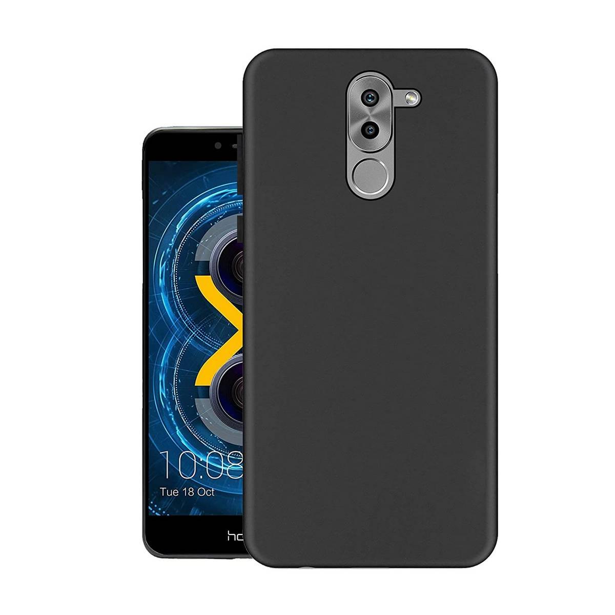 Huawei Honor 6x MATTE BLACK FLEXIBLE TPU CASE SLIM COVER - SHOCKPROOF