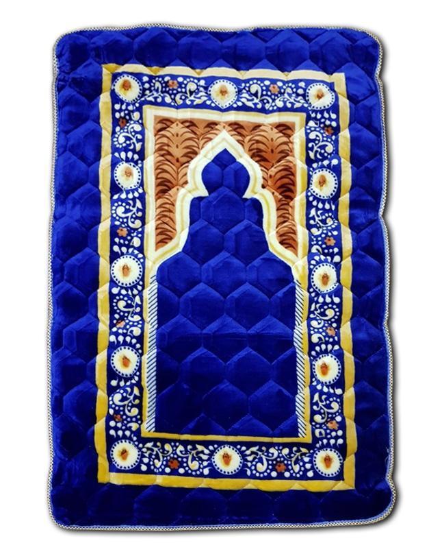 Prayer Mat Maroon Velvet with Foam Jaye Namaz ( Jai Namaz Royal Blue)
