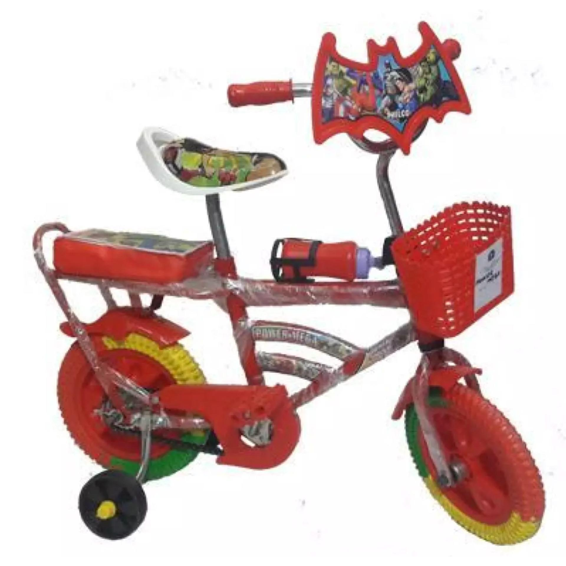 Power Mega Two Wheeler Cycle for Kids Red and Blue Color
