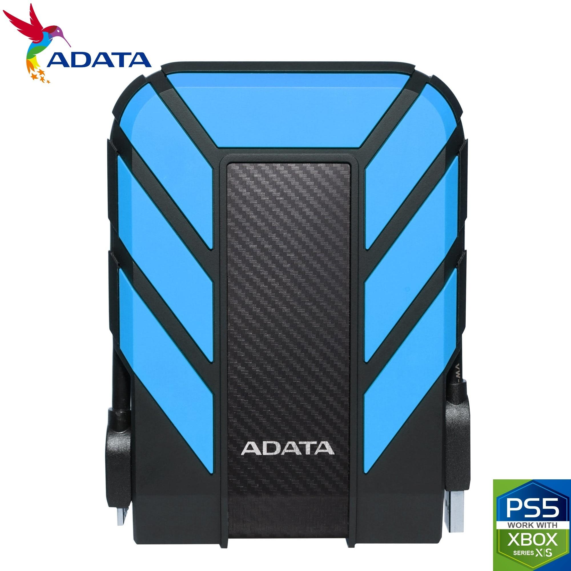 ADATA 2TB HD710 Pro USB 3.2 External Hard Drive Waterproof/Shockproof/Dustproof Ruggedized Blue
