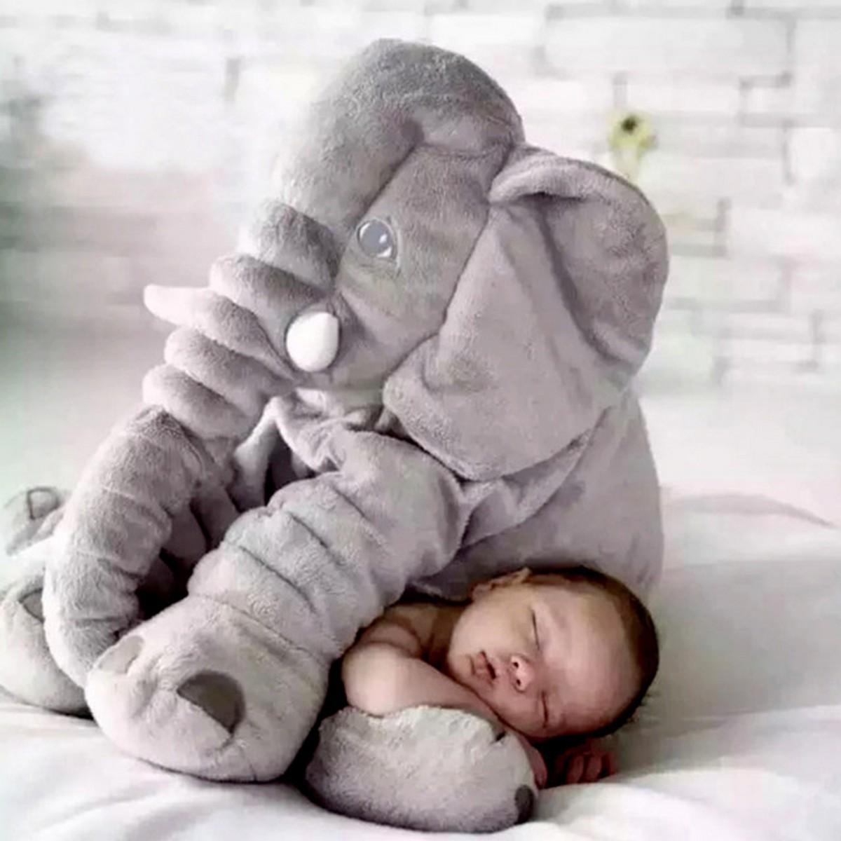 Creative Cute children bed Cushion Elephant Plush Toys Cute Dolls Soft Pillows Baby Sleeping Pillow baby birthday gift