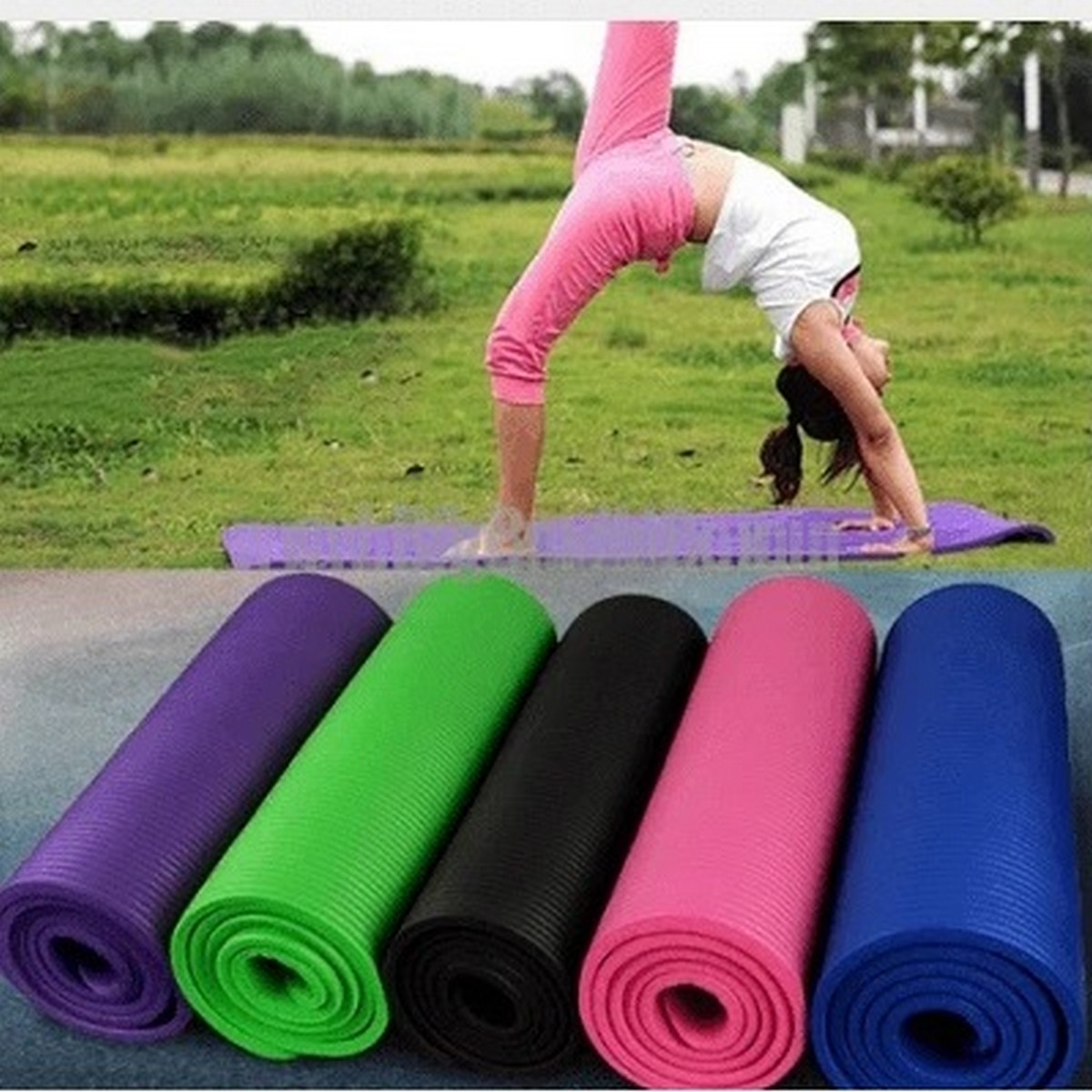 2 x 6 feet Yoga Mat with 4 & 5 & 6 mm thickness