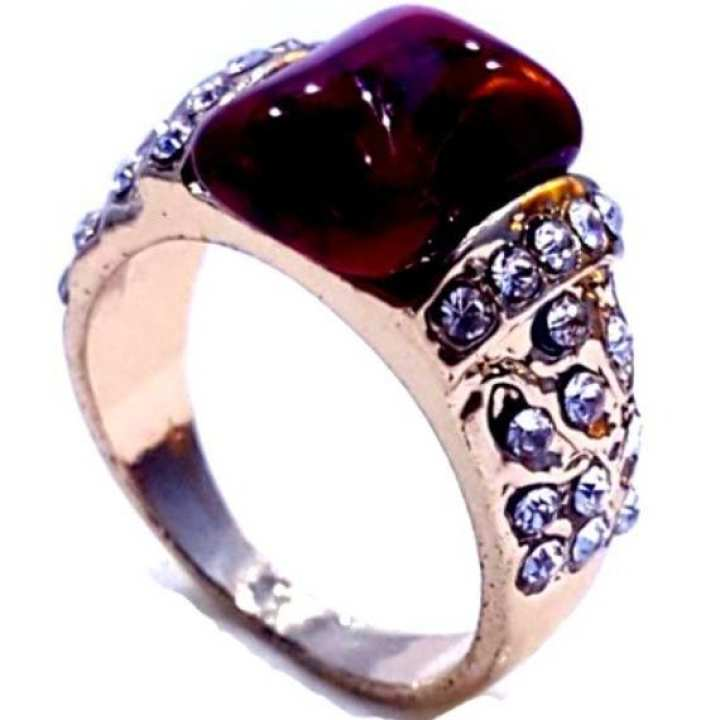 Red Stone Ring For Women.