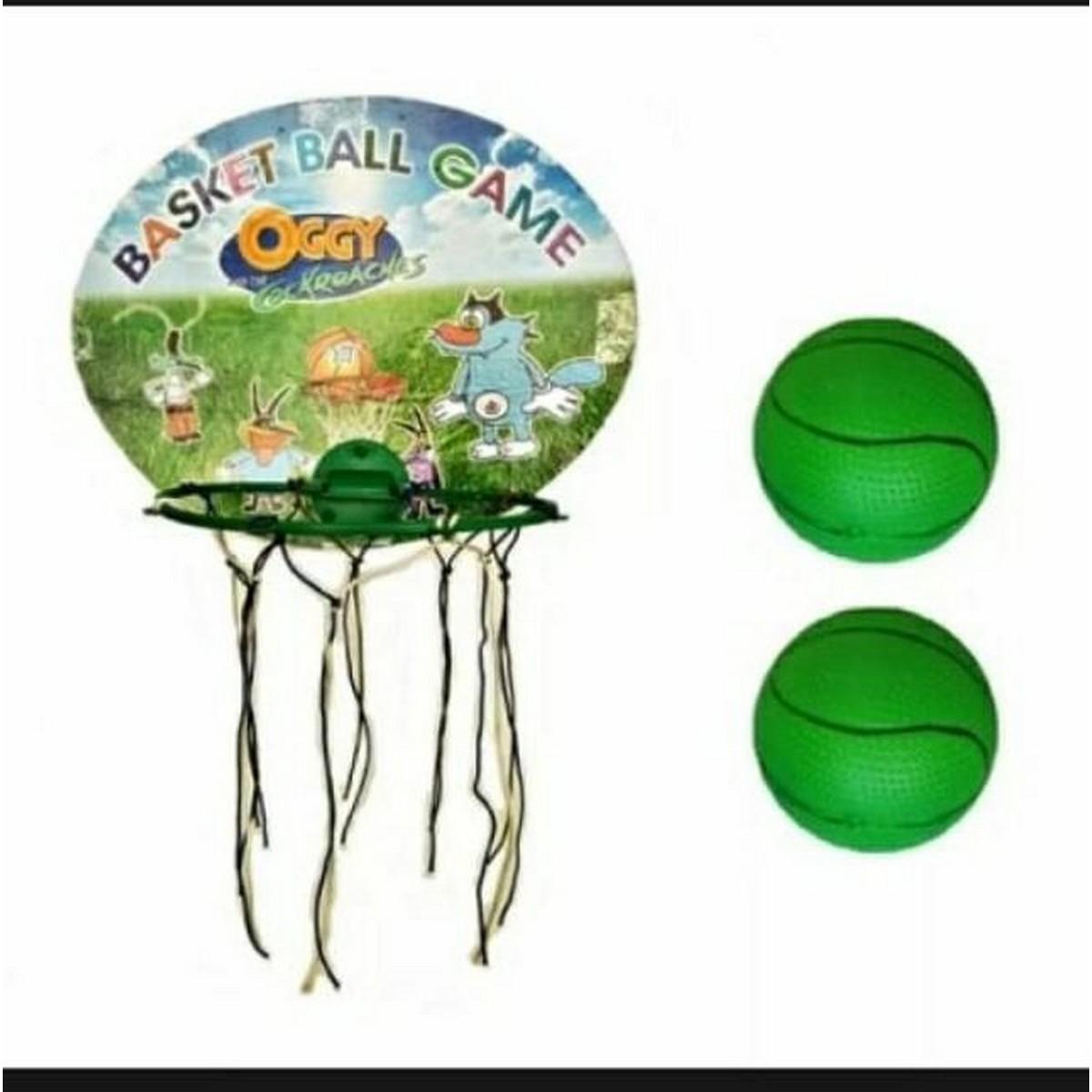Basket ball set with 2 balls folding basket for kids.
