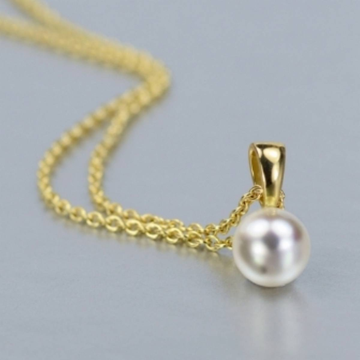 Silver/Golden Simple Single Pearl (Moti) Pendant Necklace for Girls/Women