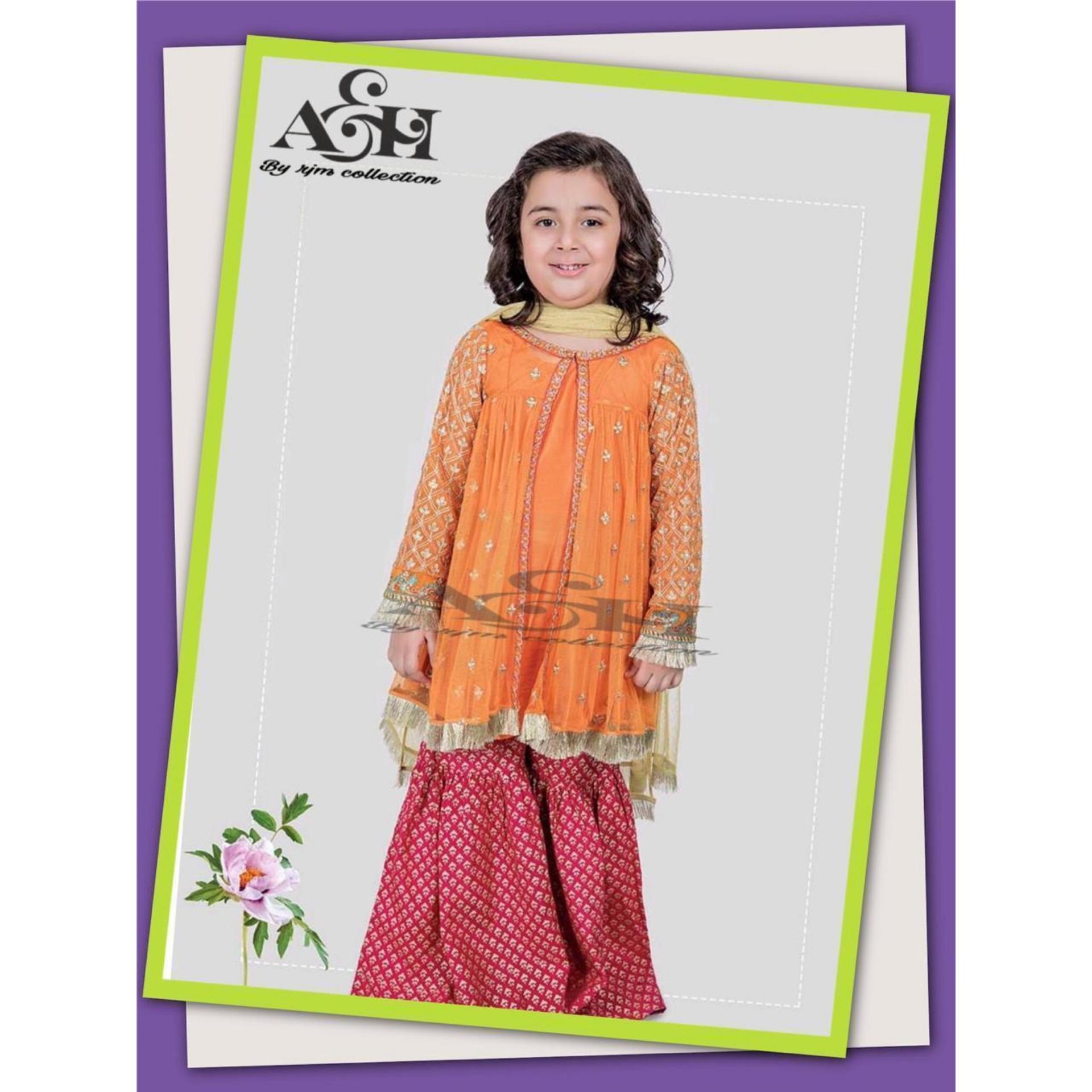 77da8e811a 2019 Kids EID collection, Unstitched Dress, Latest Kids EID collection,  Beautiful Design Kids