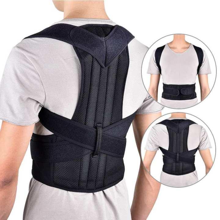 Back Posture Corrector Shoulder  Support Belt Adjustable Posture Correction Belt For Men