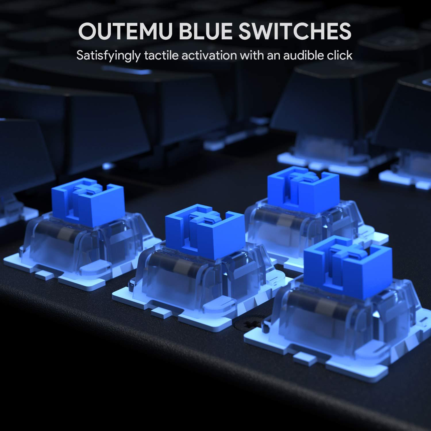 Mechanical Gaming Keyboard With Blue Switch Rgb Backlight