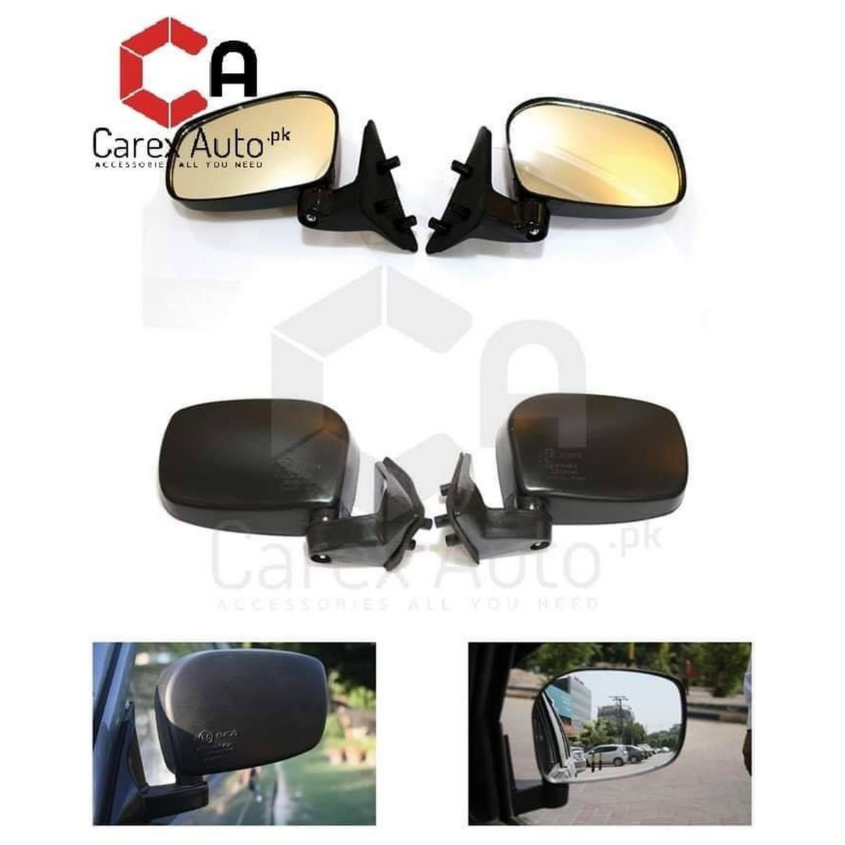Suzuki Mehran Side Mirrors With Wide Angle View