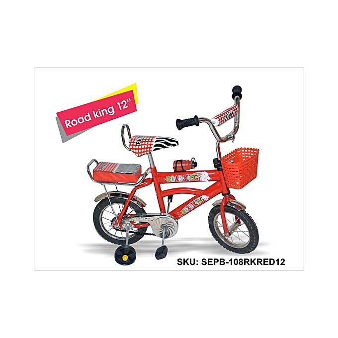 Road_King Two Wheeler 12 inch Front Basket with water Bottle