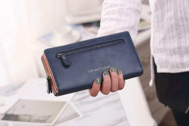 Women Wallets Zipper Buckle Leather Clutch Purse Card Holder Ladies Wallet