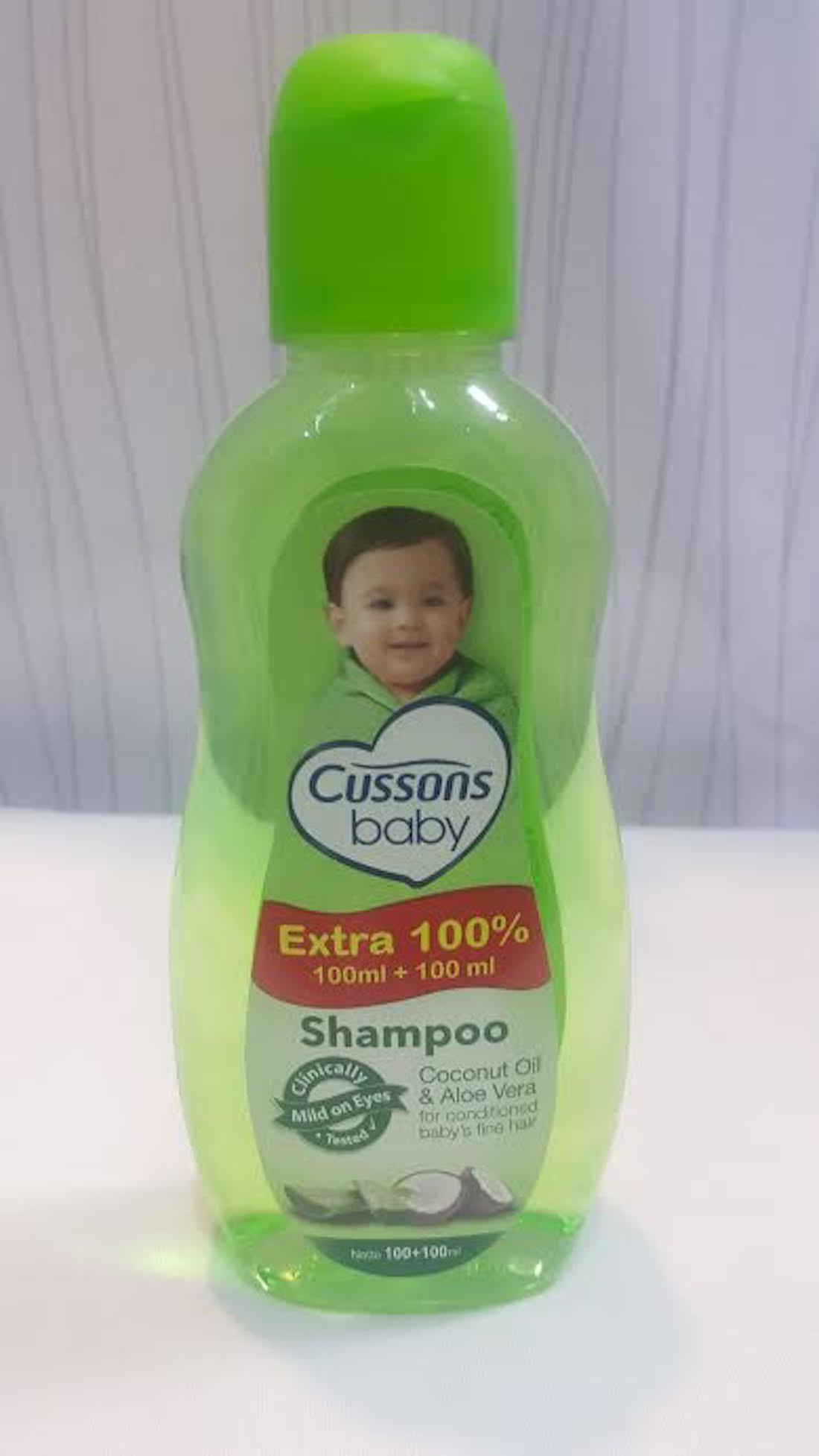Cussons Baby Shampoo Coconut Oil & Aloe Vera Mild On Eyes Fine Hair 100 +100ml
