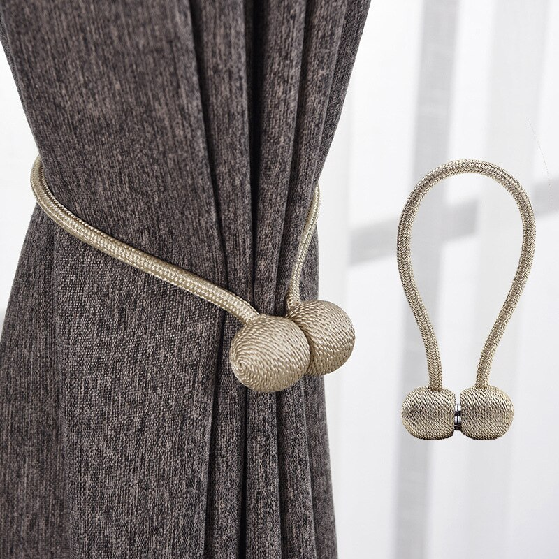 Hot Magnetic Curtain Tieback High Quality Holder Hook Buckle Clip Curtain Tieback Polyester Decorative Home Accessories