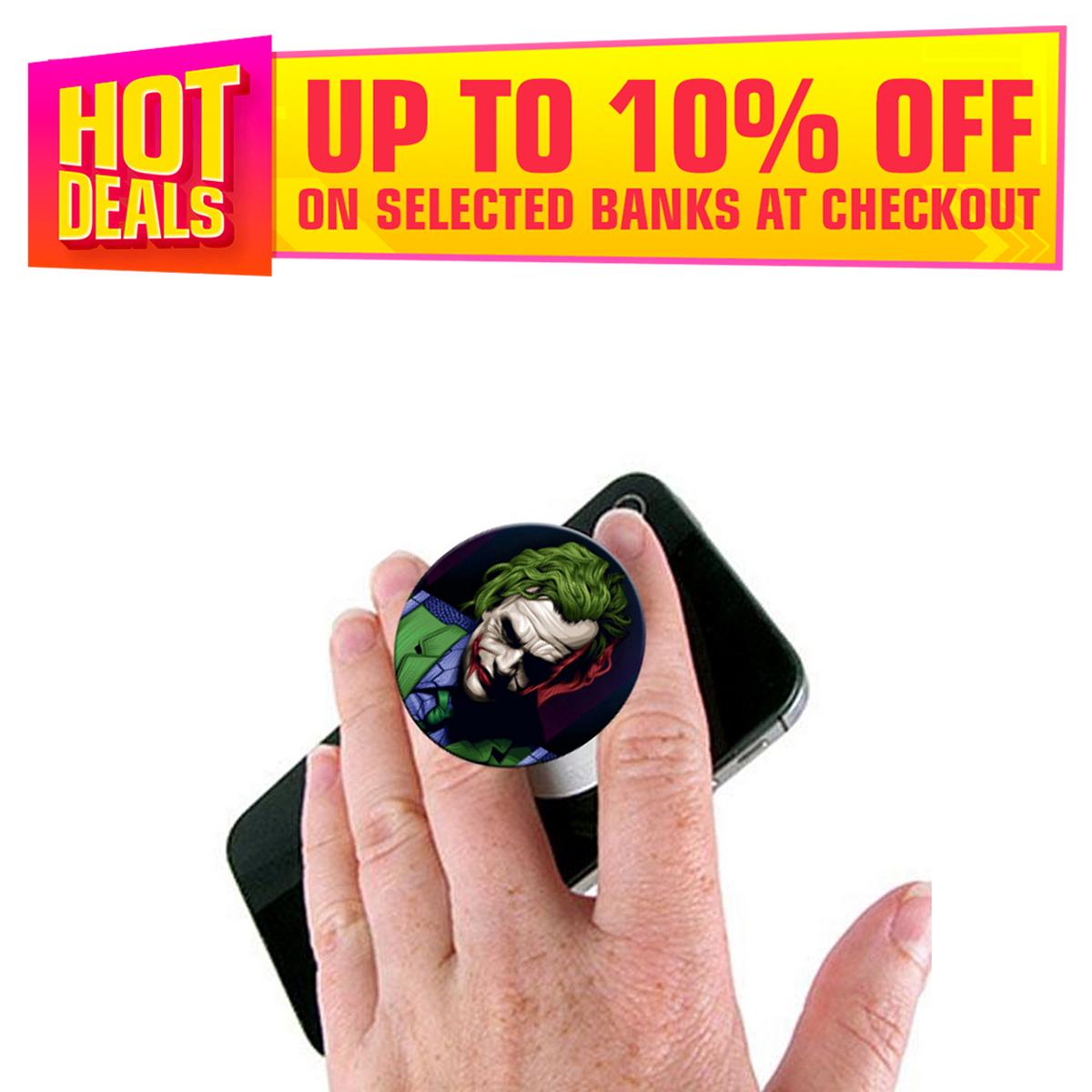 Joker Pop Socket Mobile Stand / Holder for Boys & Girls - Universal Pop Socket for Mobile Phone & Tablets & Cover