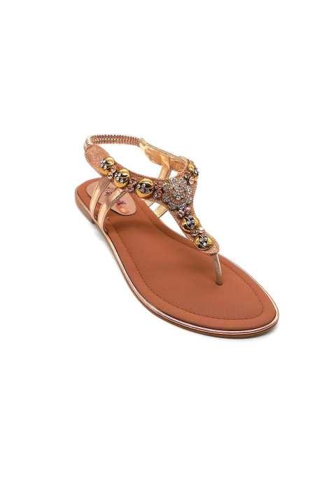 Peach Flat Sandal For Women 2191/130