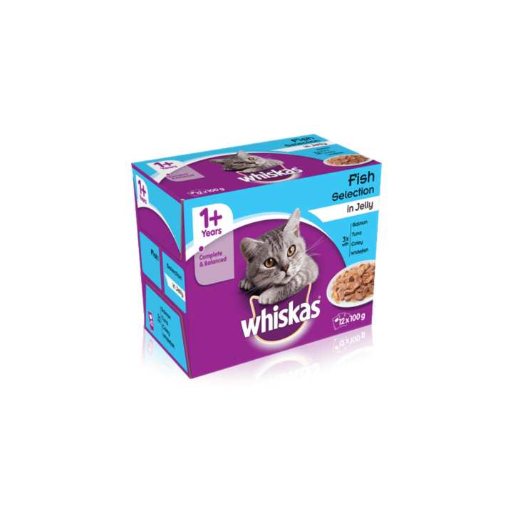 WHISKAS 1+ Fish Selection in Jelly 12 x 100gm