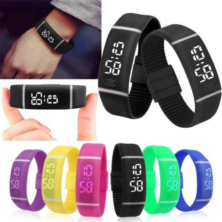 Sports Bracelet Digital Wristwatches Rubber LED Watch