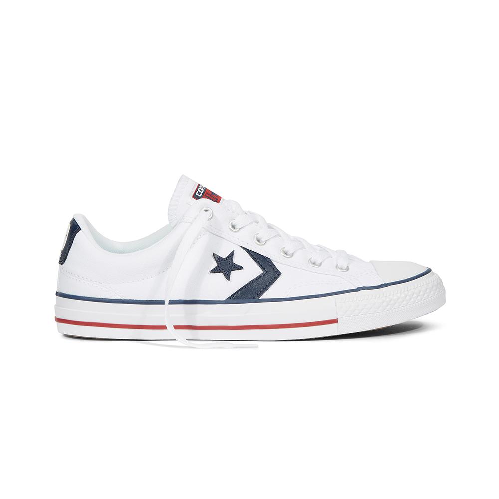 Custom Star Player White/Navy/White Low