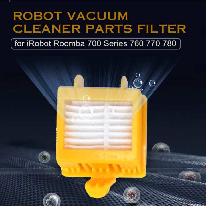 Robot Vacuum Cleaner Parts Hepa Filter Replacement for iRobot Roomba 700  Series 760 770 780 Accessories