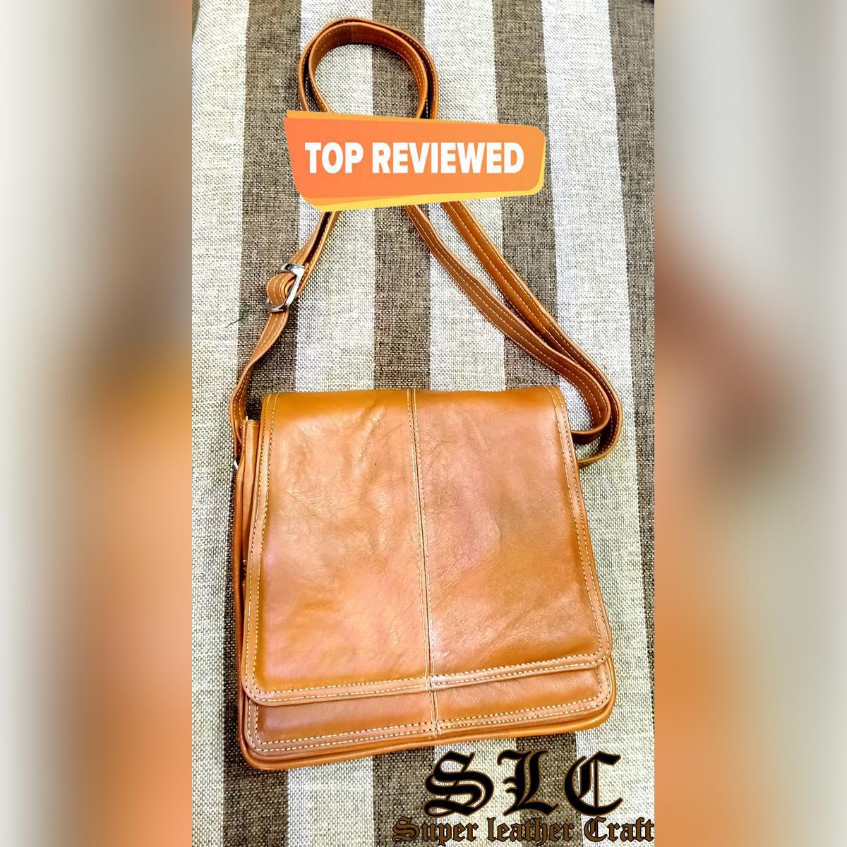 Ladies Long Shoulder Hand Bag. (Pure Goat Leather )--Super Leather Carft--