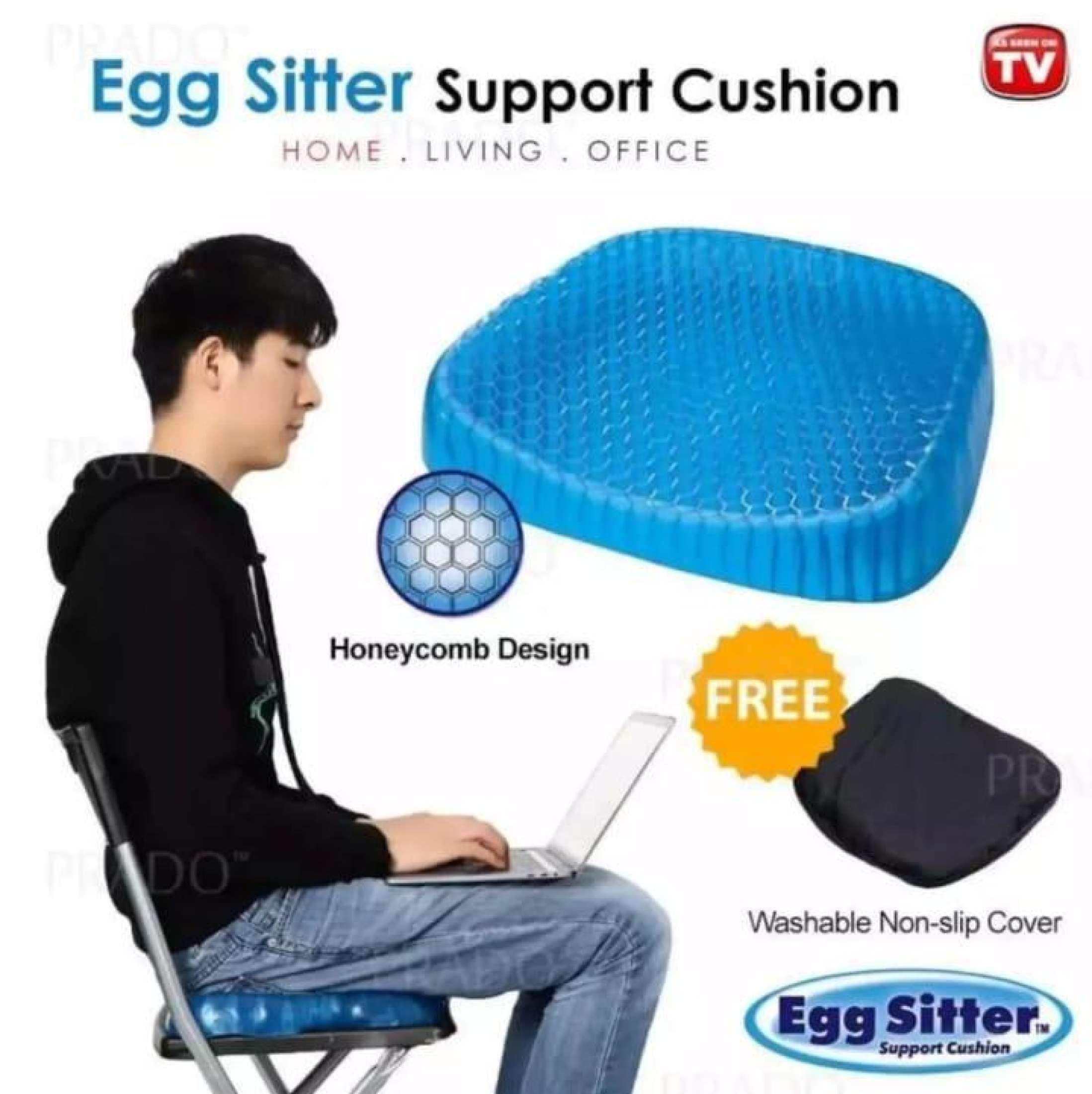 Egg Sitter Absorb Pressure Support Back Pain Relief Breathable Honeycomb Car and Office Cushion Seat Gel Non-Slip