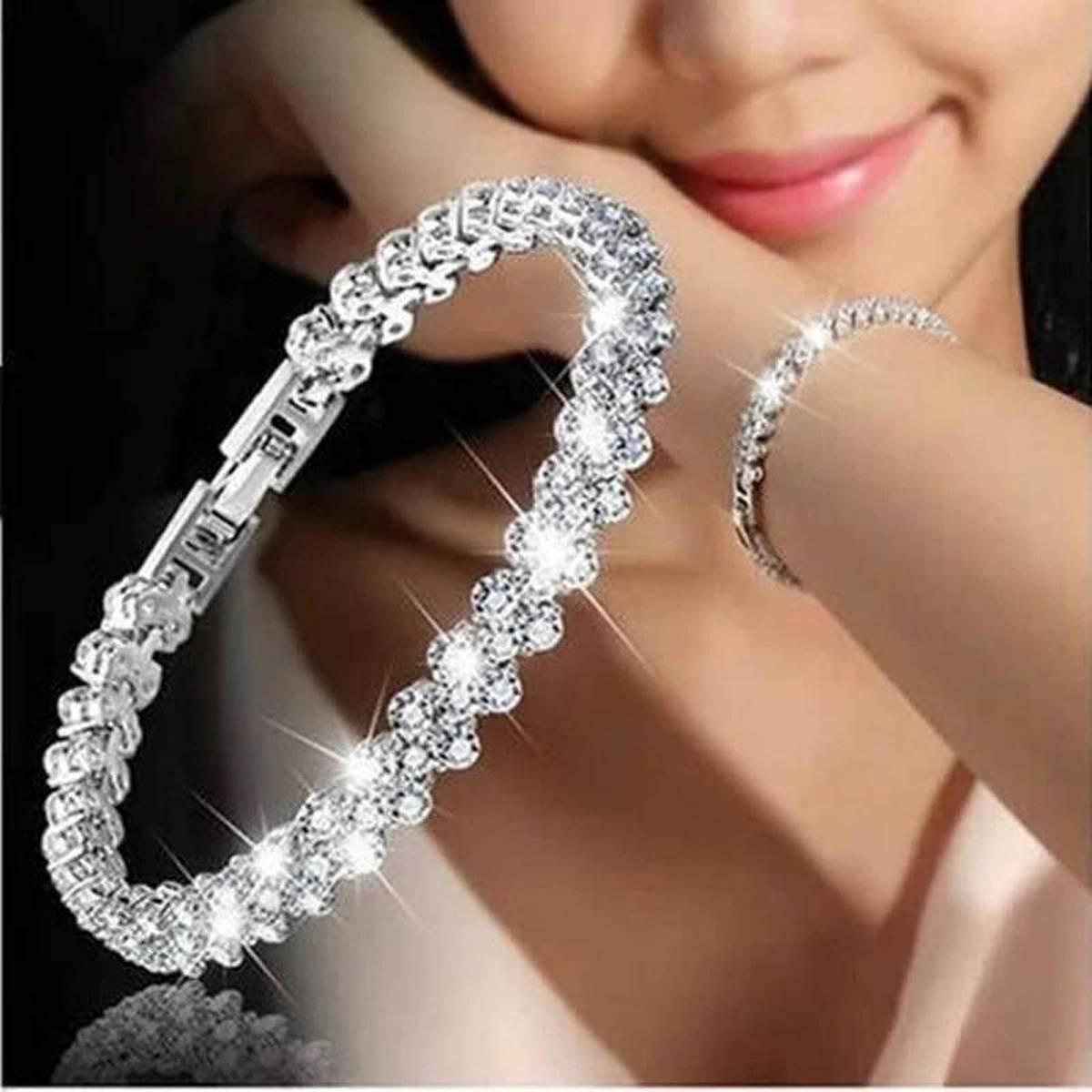 Women Fashion Roman Style Crystal Bracelets