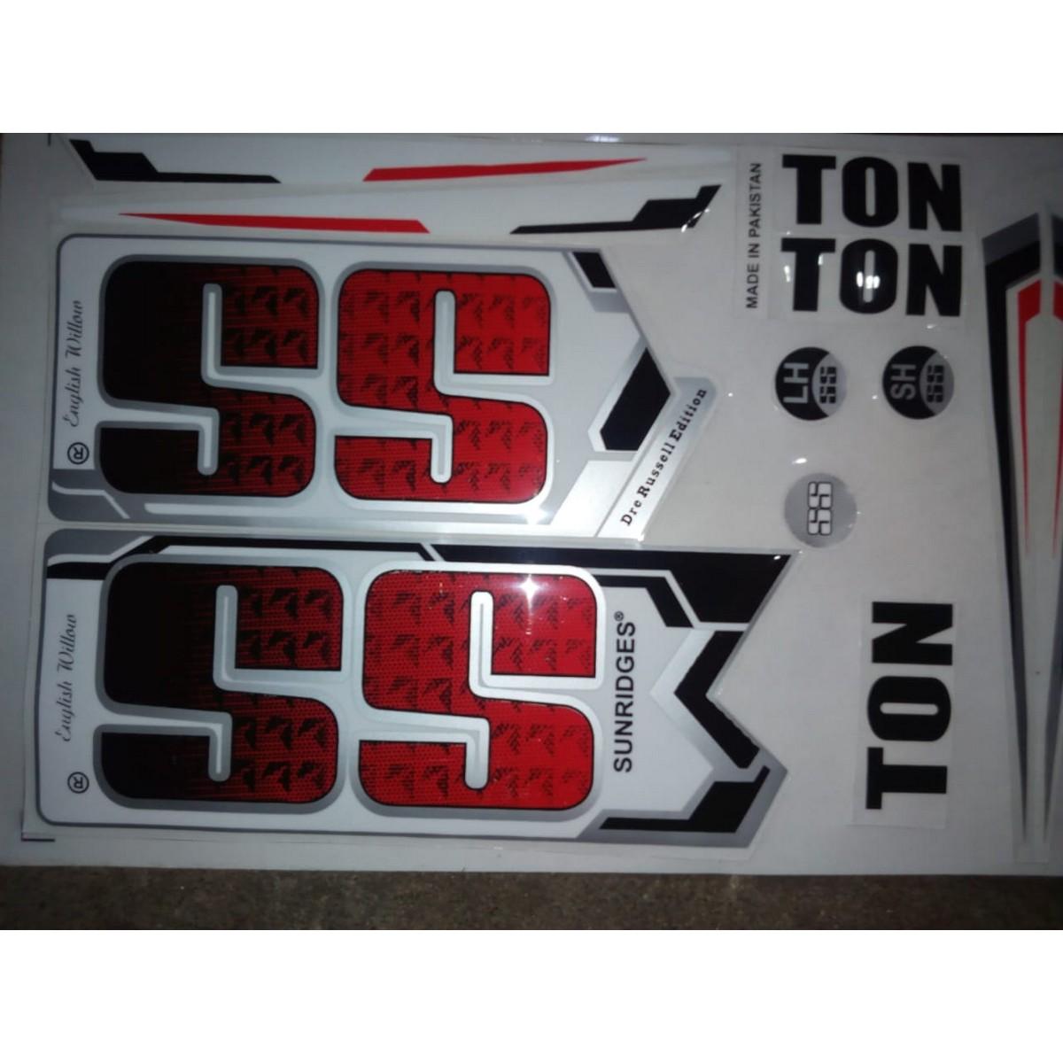 SS Sunridges TON Edition Cricket Bat Stickers [2D/Plain
