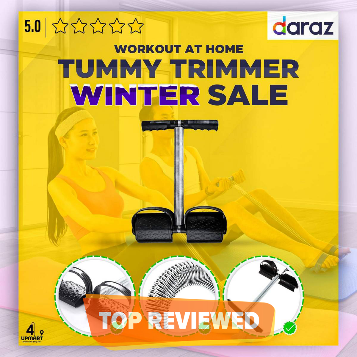 High Quality Fitness Tummy Trimmer Belly Fat Burner Body Exerciser Weigh Loss Home Gym Home Workout Single & Double Spring