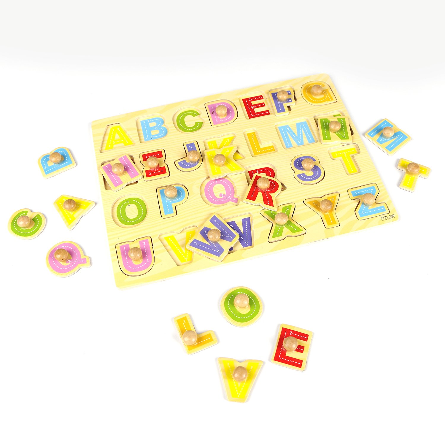 Wooden Puzzle Alphabet Board Toys Preschool Educational Toy for Kids