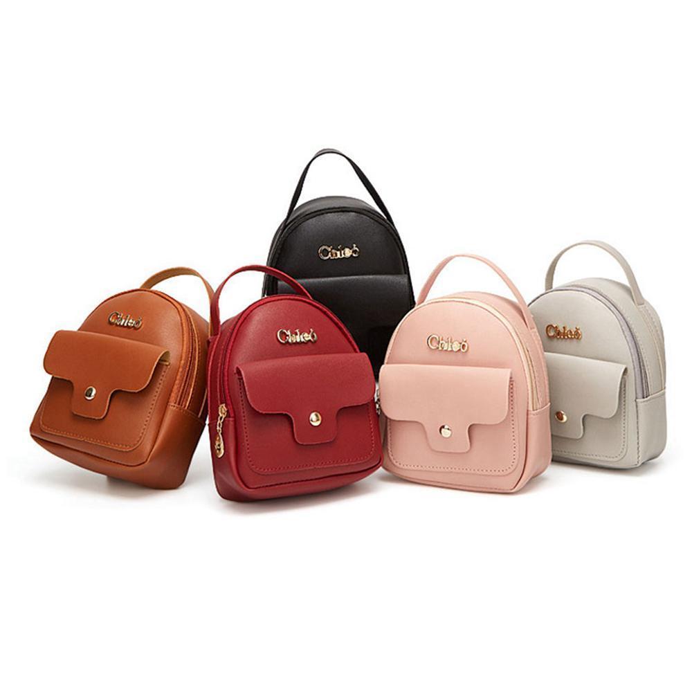 143adcd38782 Fashion Backpack Women Multi-function Shoulder Bag Women's Small Backpack  Female Leather Girl Purse Ladies Shoulder bag