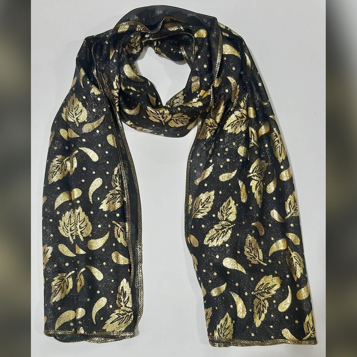 Moonlight Golden Color All Over Printed beautiful fancy dupatta Fashion Summer Season Scarf Thin Shawls and Wraps Lady Female Hijab Soft Neckerchief Long Foulard Head Scarves Stole for Women Girls