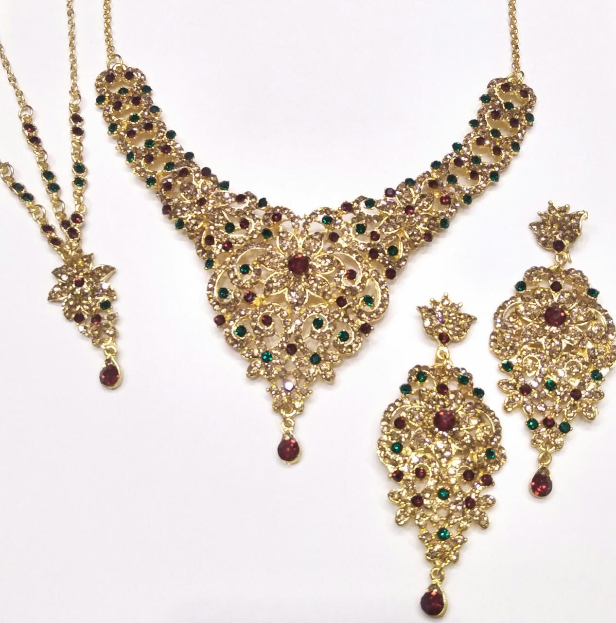 Antique Lead Jewelry Set with Pearls for Women