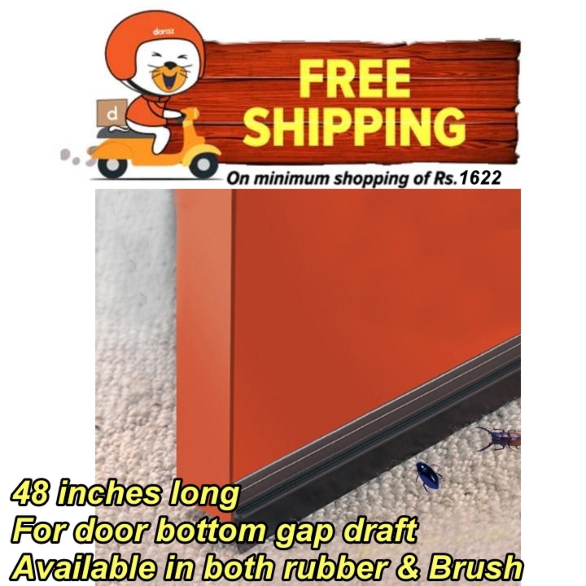 Door Insulation Seal Brush Rubber strip Aluminium frame Under Door Bottom  gap filling air dust bugs sound insulation Window Weatherstrip under door