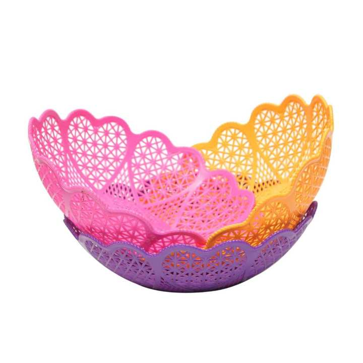 Pack of 3 - Flower Designs Fruit Baskets