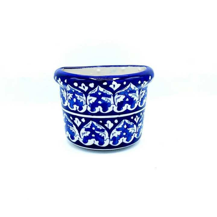 Blue Pottery knife & Spoon Holder Hand Crafted , Hand Made