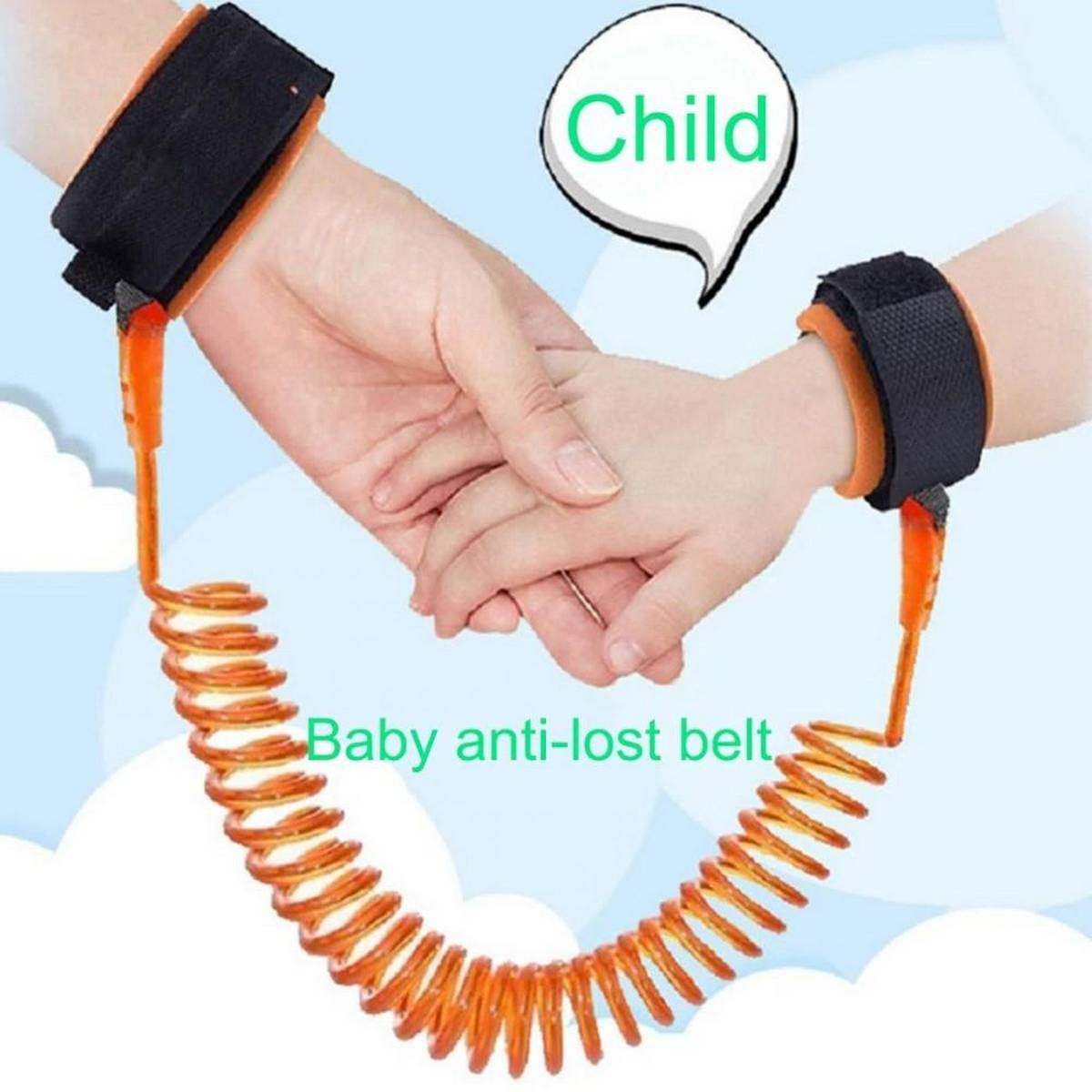 Baby Child Anti Lost Wrist Link Safety Harness Strap Rope Leash Walking Hand Belt Band Wristband For Toddlers, Kids