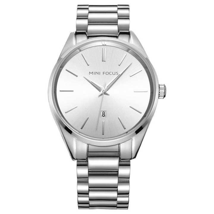 Black Shell Steel Belt With Calendar Quartz Watch Wrist For Men Women