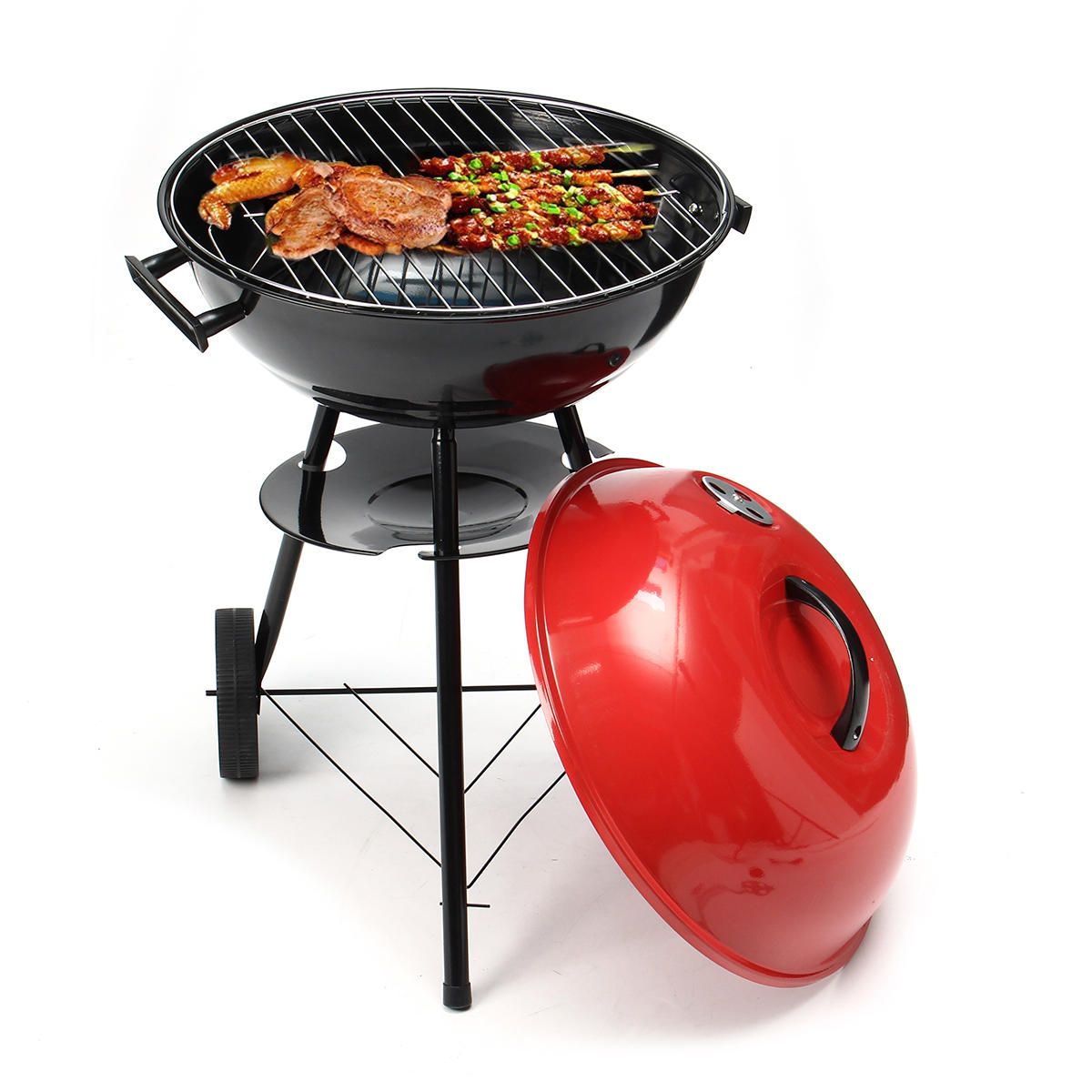 Portable Red Kettle Trolley BBQ Grill Charcoal Barbecue Wood Barbeque  Picnic BBQ Grill: Buy Online at Best Prices in Pakistan | Daraz.pk