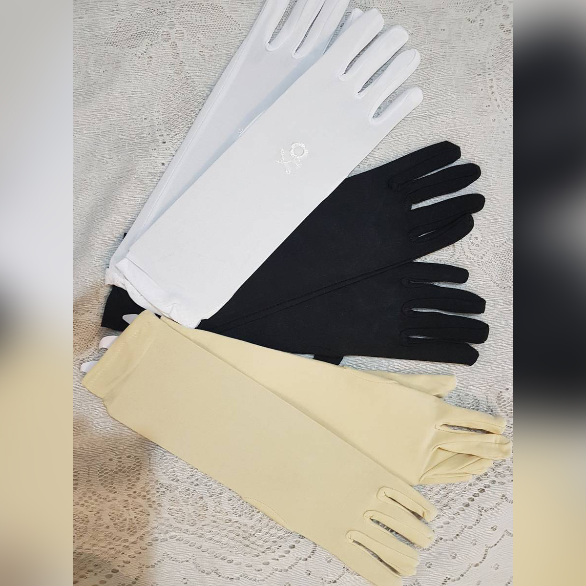 Aura De Awra pack of two pair of hand gloves for girls women ladies muslim wear Hijab to protect from sunlight dust