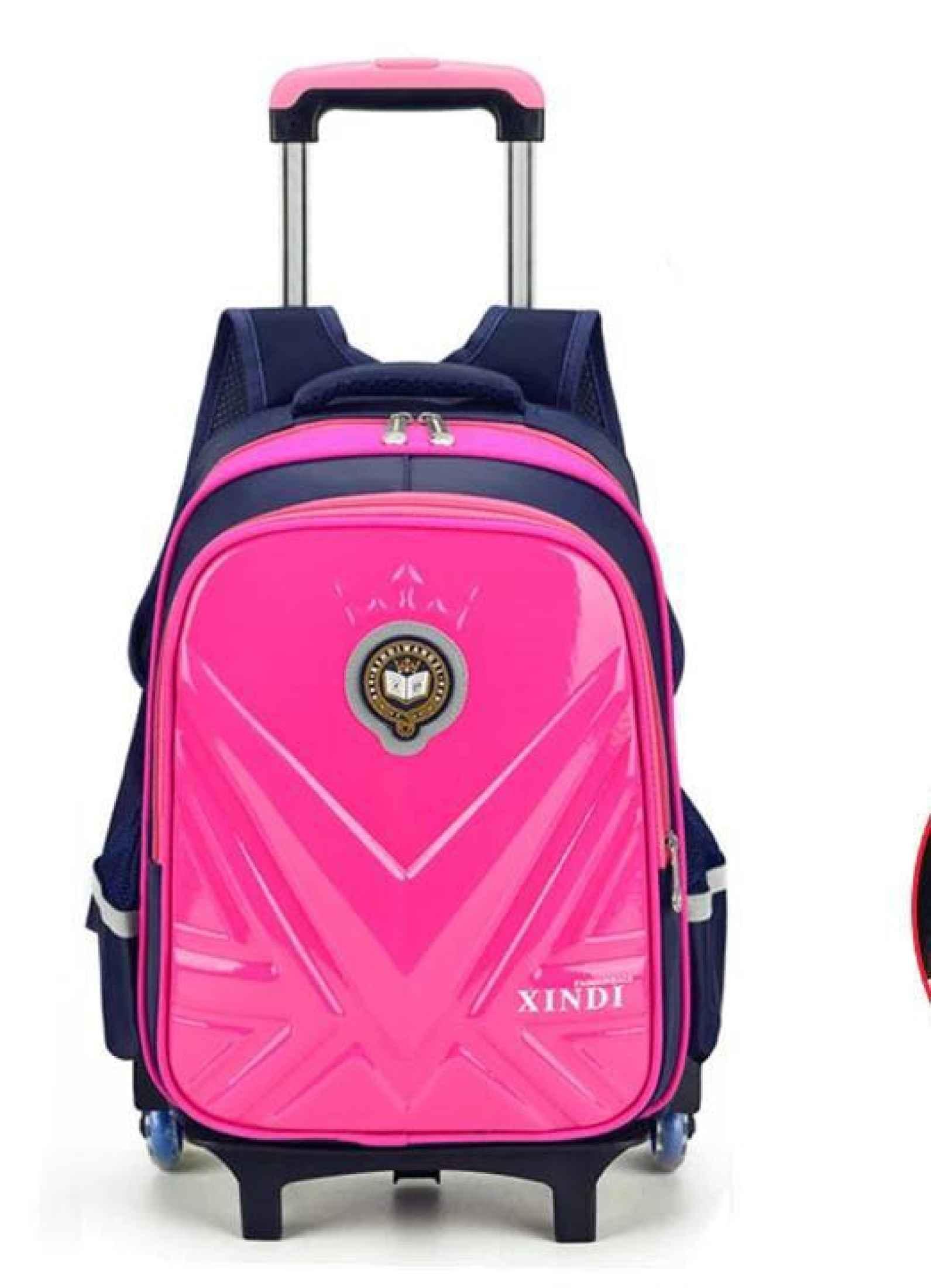 Trolley School Backpack Wheeled Bag For Schoolbags Waterproof School Rolling Backpacks