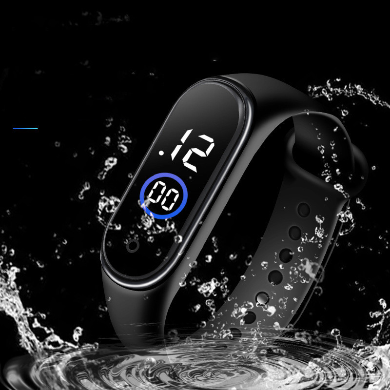 Watch for Men & Boys Waterproof Digital Touch LED Band Sports Watch