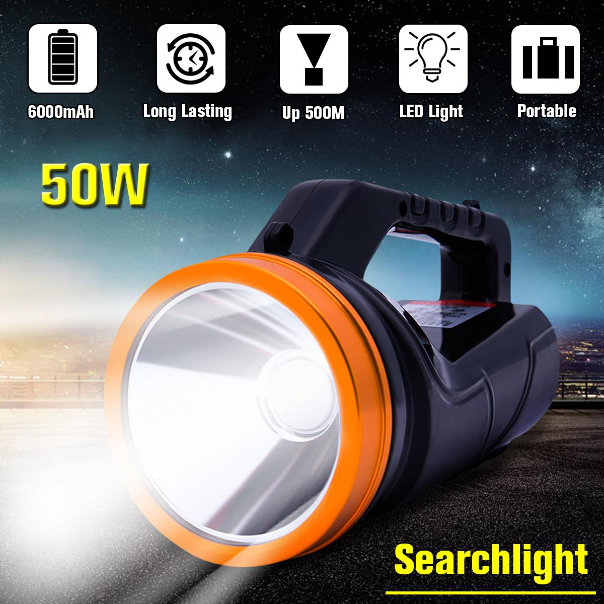 Searchlight Bright Handheld Portable Searchlight LED Rechargeable Flashlight QK