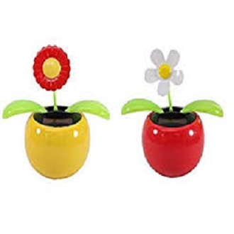 Car Decoration Solar Powered Dancing Flower Swinging Animated Dancer Toy 1 Pc