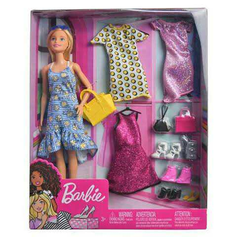 Doll Wardrobe Set With Cute Doll Toy And Doll Acessories