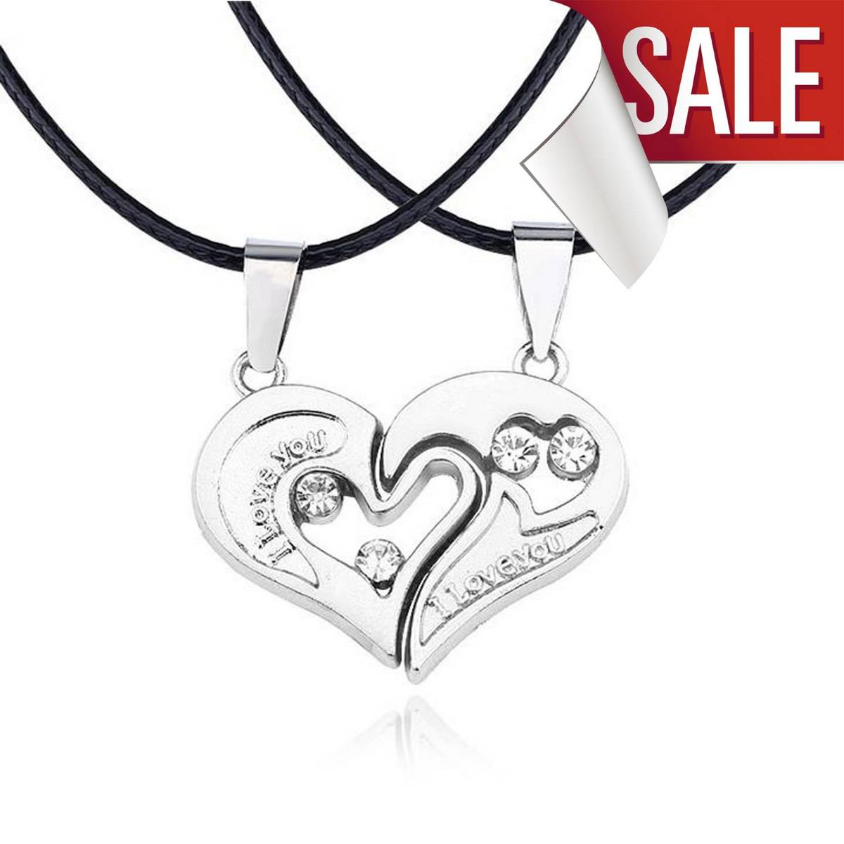 Best Valentine Gift Couple I Love You Heart Shape Locket Silver Stainless Steel Heart Pendant Necklace Unisex