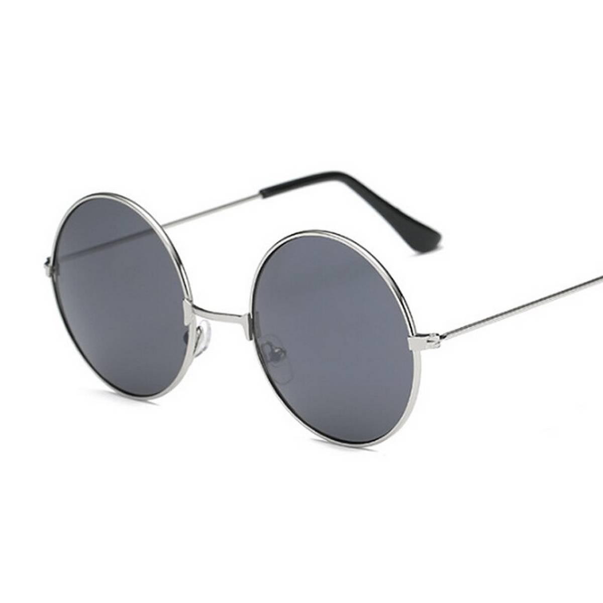 Trendy New Design Round Shape Black Sunglasses- Metal Frame for boys/girls