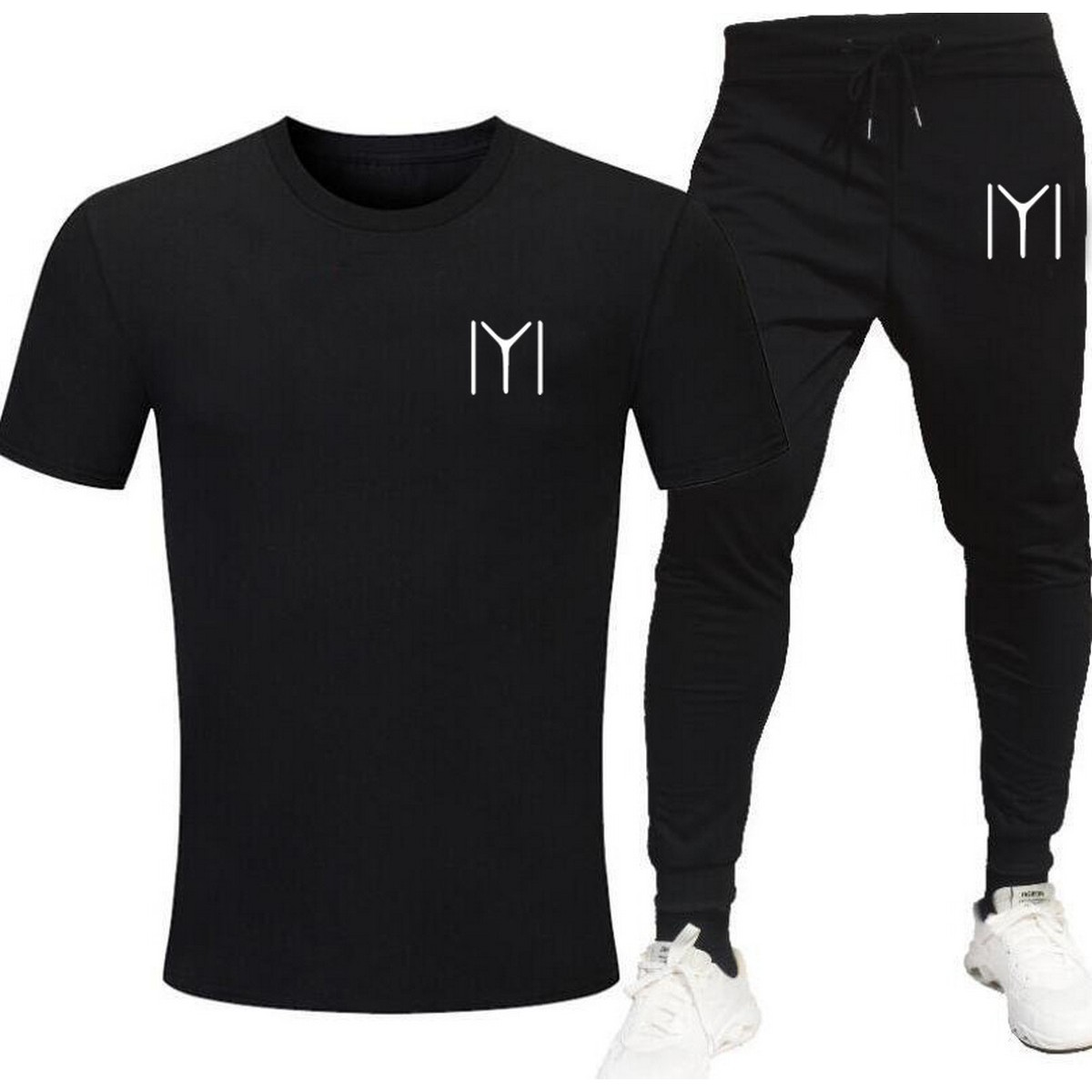 Kayi Tribe IYI Printed Tracksuit for mens Ertugrul Gazi cotton Jersey Round Neck Tshirts and Terry Trouser For Boys/Mans