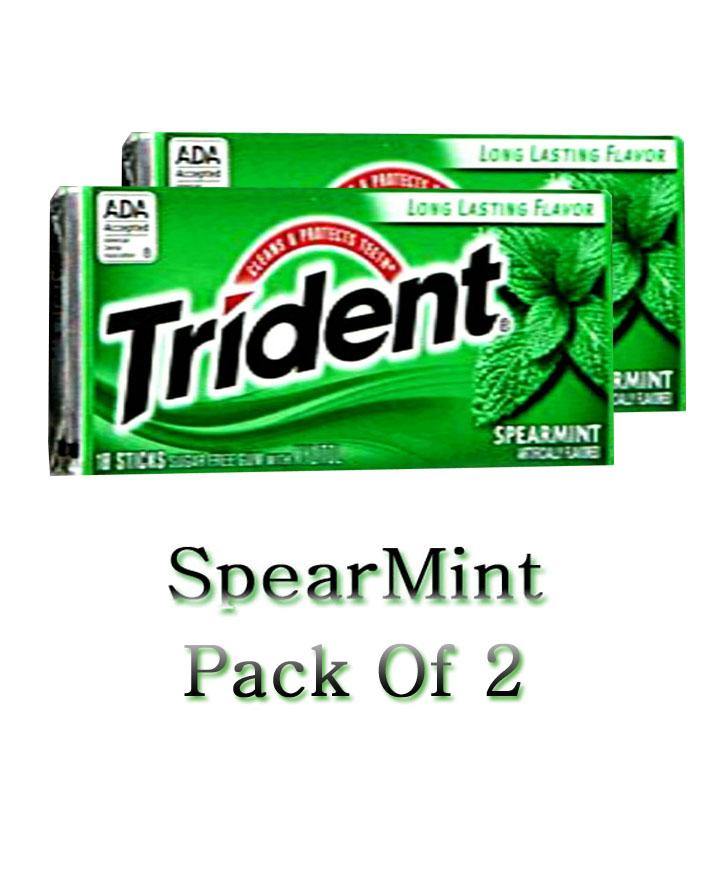 Pack Of 2 - Trident Spear Mint Bubble Gum